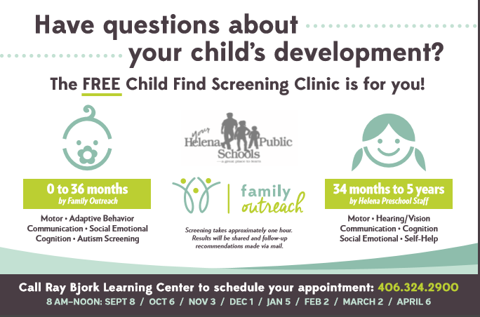 Free Child Find Screening Clinic