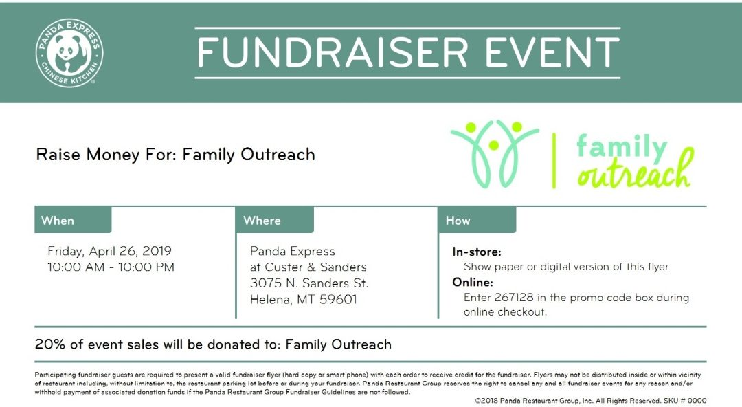 Dining For Disabilities With Family Outreach and Panda Express