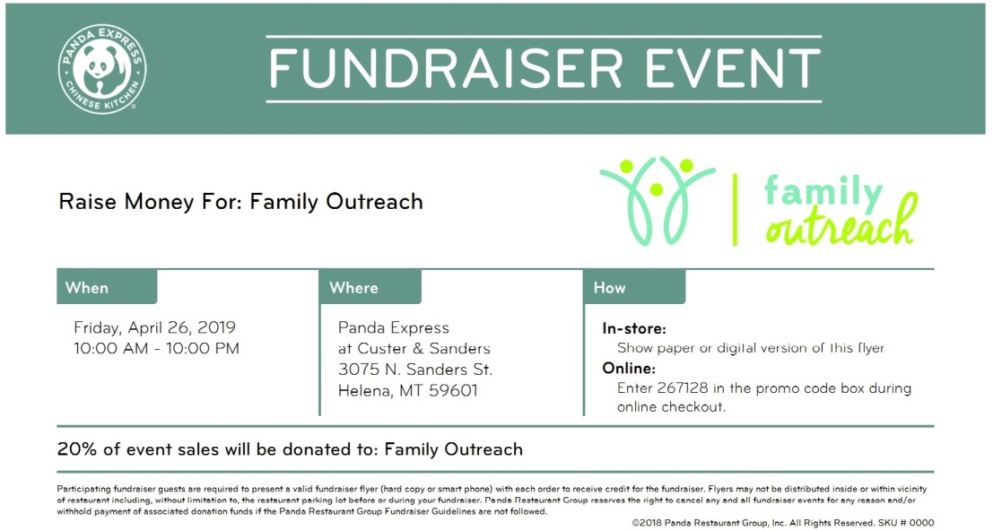 Panda Express Voucher Coupon Fundraiser