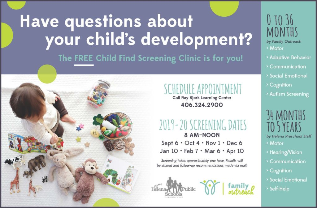Child Find event to answer questions about your child's development.