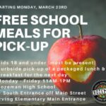 Free School Meals for Pick-up